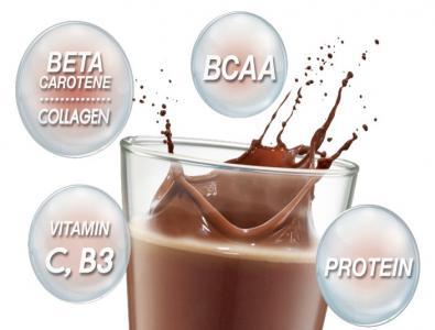 เวย์โปรตีนไอโซเลท ผสมเบต้า-แคโรทีนและคอลลาเจน