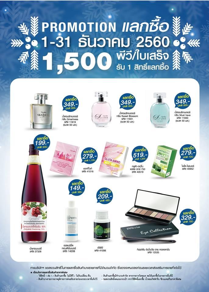 Promotion โปรโมชั่น ประจำเดือน ธันวาคม 2560