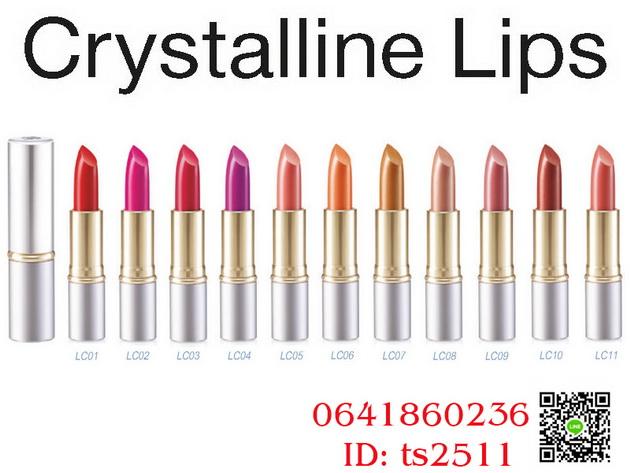 ลิป คริสตัลลีน กิฟฟารีน (สูตรใหม่ 24 เฉดสี) สี LC 01-24,คริสตัลลีน ลิป คัลเลอร์,ลิป กิฟฟารีน,ลิปคริสตัลลีน